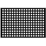 """Acurio Lattice Squares 1.5 Outdoor Decor Panel Screen, Black, 32 x 48 x 1/4"""""""
