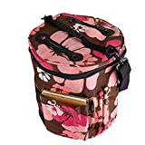 Large Knitting Tote Bag for Carrying Skeins Knitting Needles and Crochet Hooks Portable Storage Bag For Yarn Accessories Prevents Tangling (Pink)