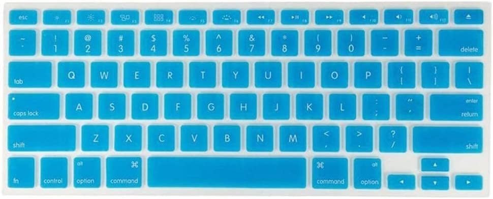 US Version Keyboards Color : Sky Blue Tjtz Unique Ultra Thin Silicone Keyboard Cover Keyboard Skin Protector for Apple MacBook Air Pro 13 15 17