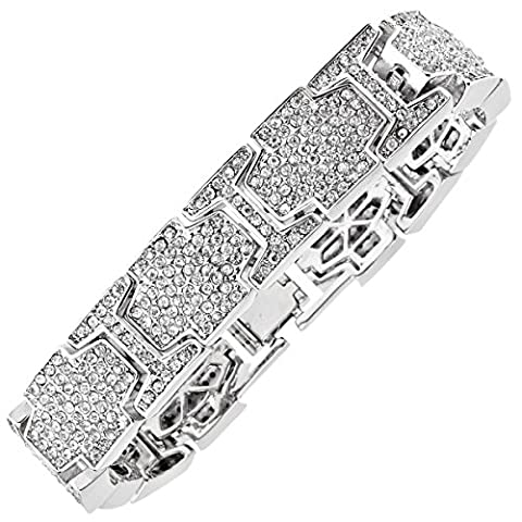 Iced Out Bling Hip Hop Diamond Bracelet - ICE LINK (Ice Jewelry For Men)