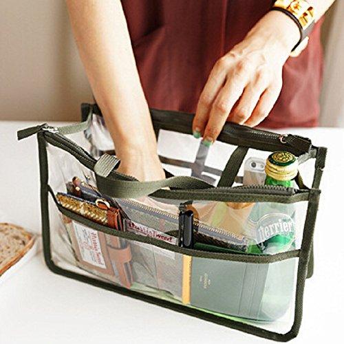 GAOMEIWasserdichte PVC Kosmetiktasche transparent kreative Aktentasche Aufbewahrungsbeutel waschen Tasche Green