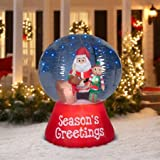Gemmy Airblown Inflatable Snowglobe with Glimmer LED Santa Scene, 5.5'