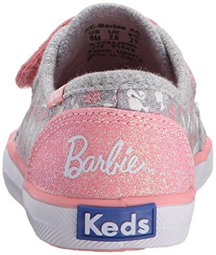 Keds KE Barbie AC Mädchen Klett Sneakers Grey