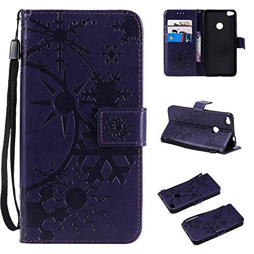 TOTOOSE Huawei P8 Lite 2017 Case, Premium PU Leather Wallet