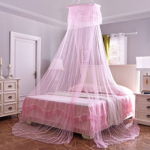 Circular Hanging Round Lace Bed Canopy Netting Bedroom Decorative Dome Mosquito Net by SHAREWIN