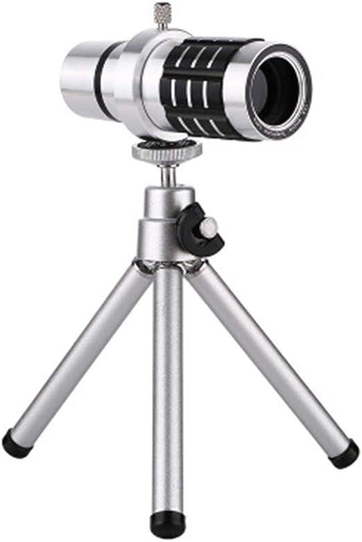 SPORS Universal 12 Veces teleobjetivo teléfono móvil telescopio ...