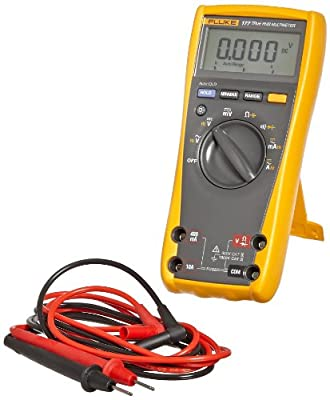 Fluke 177 RMS Digital Multimeter with Backlight, 50 Megaohm Resistance, 1000V AC/DC Voltage, 10A AC/DC Current with a NIST-Traceable Calibration Certificate with Data