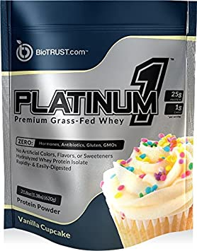 BioTrust Platinum1 Premium Grass Fed Whey Protein, Ultra-Pure, Ultra-Clean, 100 Hydrolyzed Whey Protein Isolate – Chocolate Ice Cream