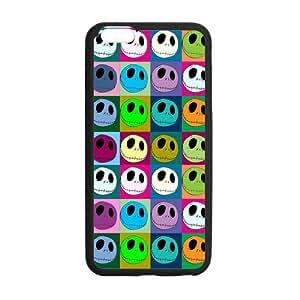 "LeonardCustom Protective Hard Rubber Coated Cover Case for iPhone6 Plus 5.5"", Nightmare Before Christmas Jack & Sally -LCI6PU115"