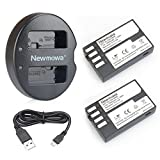 Newmowa D-Li109 Battery (2-Pack) and Dual USB Charger for Pentax D-LI109 and Pentax K-r, K-30, K-50, K-500