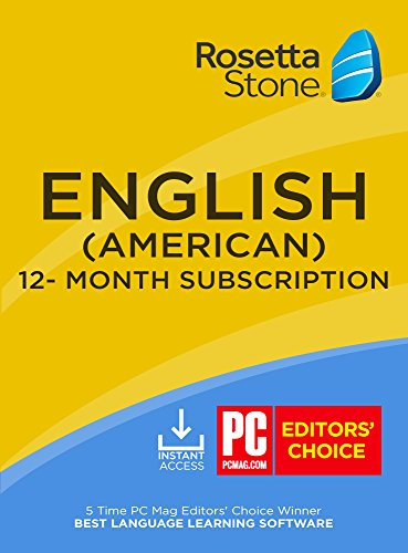 Rosetta Stone: Learn English (American) for 12 months [Auto-recurring Subscription] (Stone Rosetta American English)