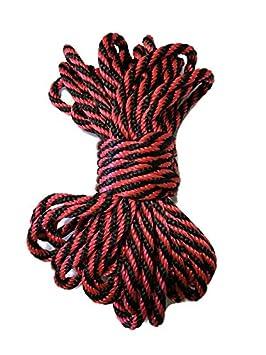 Green /& Black MFP Bondage Rope 30 Bundle Agreeable Agony 1//4 Solid Braid MFP