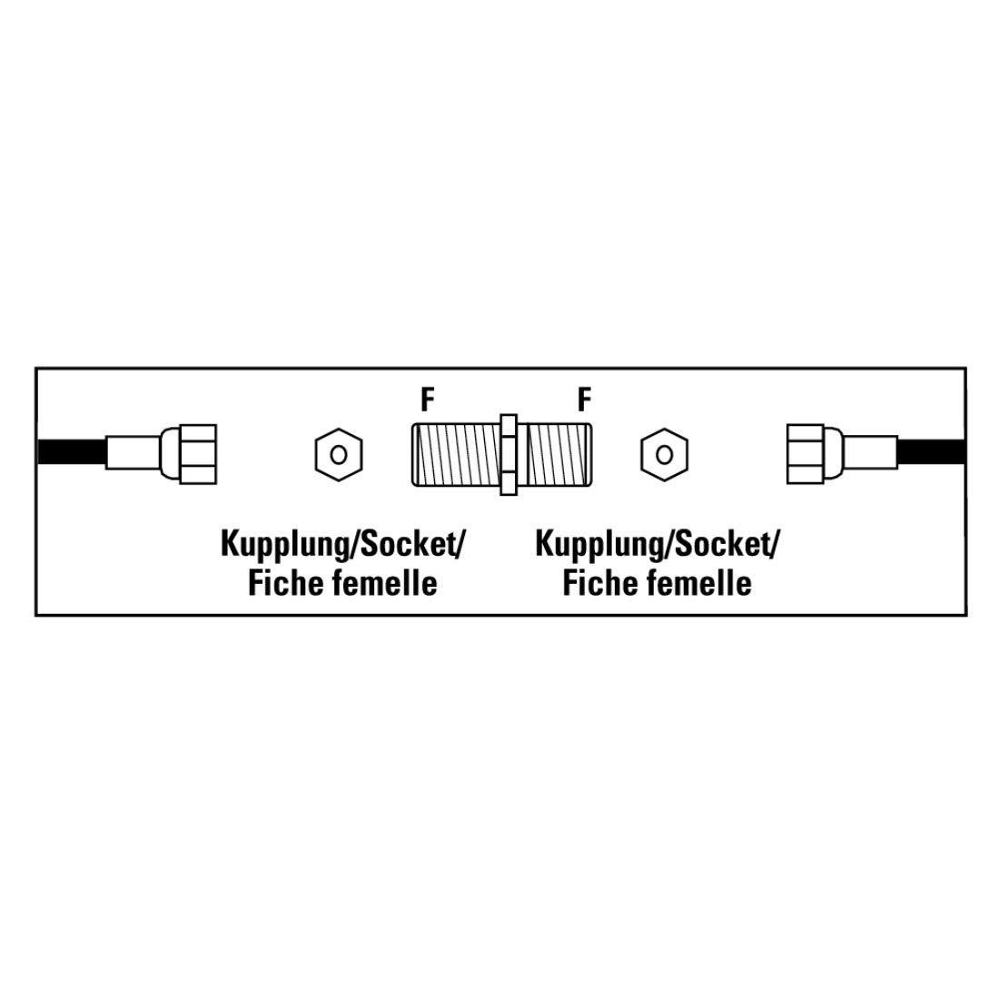 Hama Adaptateur satellite fiche coaxiale prise F