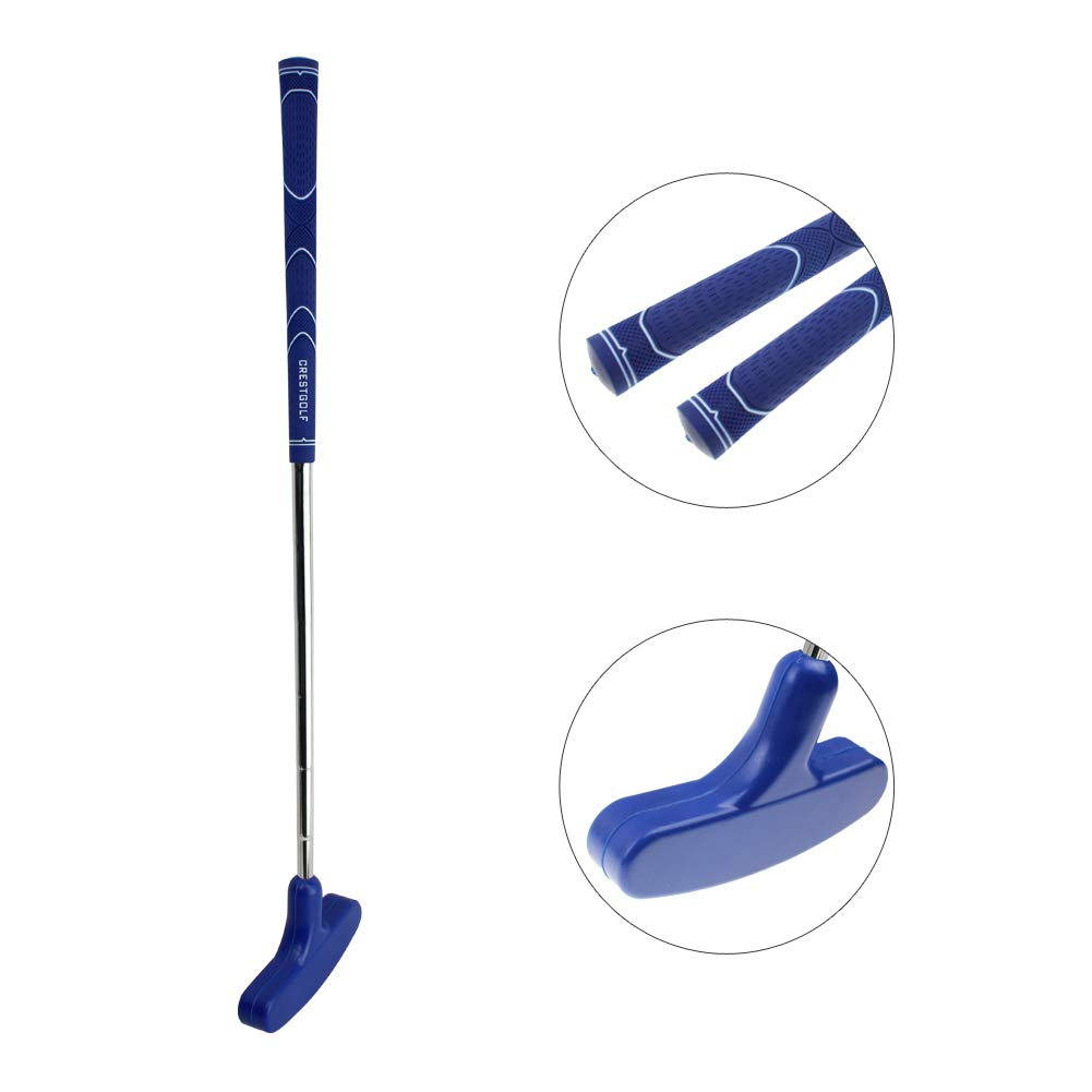 Crestgolf 29 inches Double-Way Rubber Golf Putter,Regular,Right&Left Handed (Blue) by Crestgolf