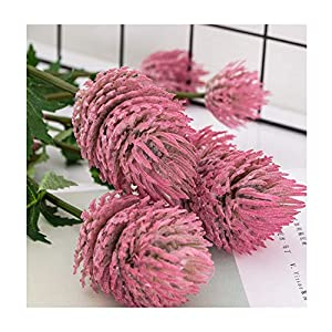 highend Artificial Flowers Windflower Chrysanthemum Branch Home House Table Office Event Wedding Decor Fake Flower 1 pc,Rose Red 64