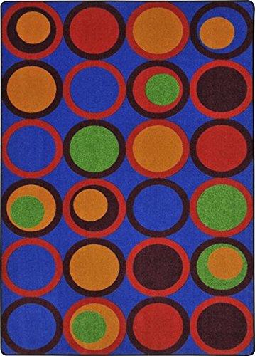 Joy Carpets Kid Essentials Circle Back Teen Area Rugs, 92-In