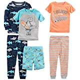 Simple Joys by Carter's Toddler Boys' 6-Piece Snug Fit Cotton Pajama Set, Shark/Champ/Surf, 4T