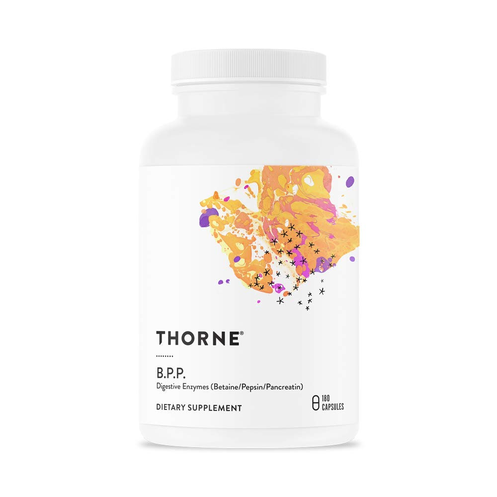 Thorne Research - B.P.P. (Betaine/Pepsin/Pancreatin) - Comprehensive Blend of Digestive Enzymes - 180 Capsules