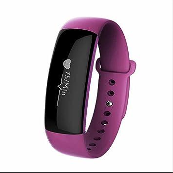 Reloj Inteligente Bluetooth Deportivo de Pulsera,Pulsera Reloj Inteligente con Control Cámara/Podómetro/