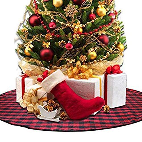 Buffalo Check Christmas Tree Ideas.Amazon Com 48 Christmas Tree Skirt With Red And Black
