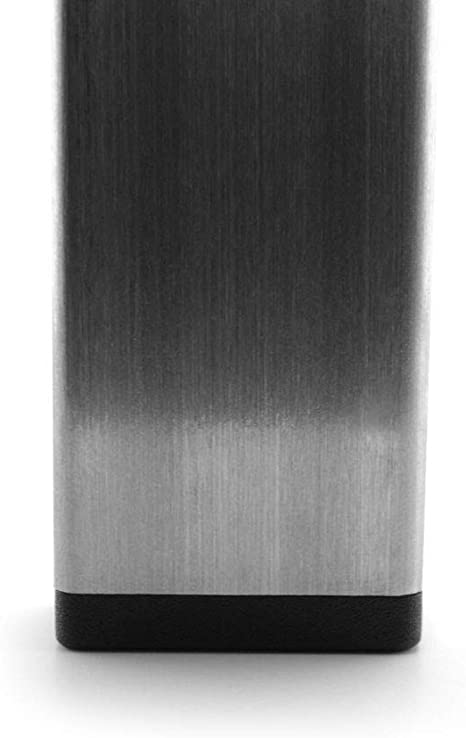 GLEITGUT 4 x Tapones de l/áminas gris 50 x 50 mm para tubo cuadrado