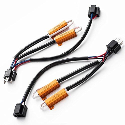 SEALIGHT H4/HB2/9003 LED Resistor Kit Relay Harness Adapter Anti Flicker Error Decoder Warning Canceller