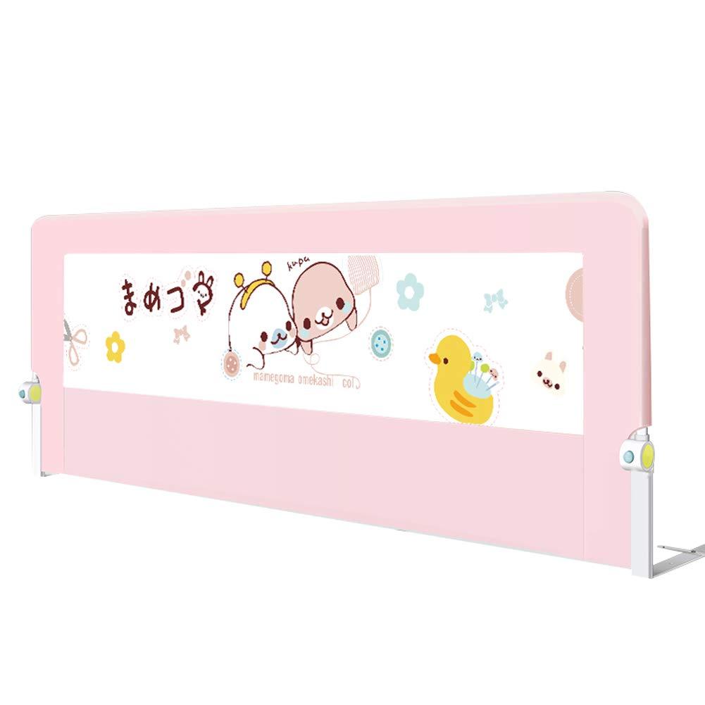 ベッドレール 幼児用ベッドレール、調節可能なベビーベッドサイドガード漫画の安全アンチ秋のベビーベッドバンパー - 75センチメートル高い (サイズ さいず : 2m) 2m  B07L5LMY1V