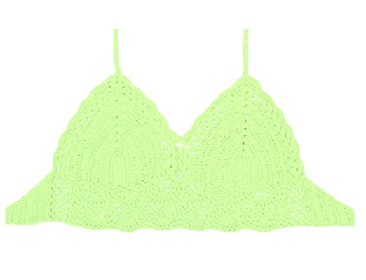 Images Footlocker À Vendre Femme Tankini Bikini Haut de Maillot de Bain Dentelle Crochet Bikini Boho Crop Top 8Orange Vue À Vendre ZgOvV5