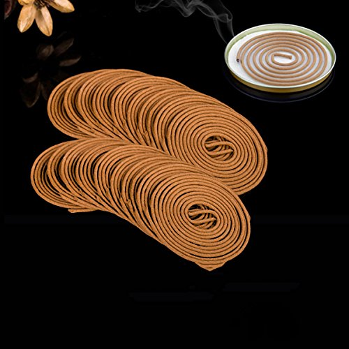 (CocinaCo 20Pcs Outdoor Mosquito Repellent Coils Incense Spirals Insect Bug Killers Mosquito Dispeller)
