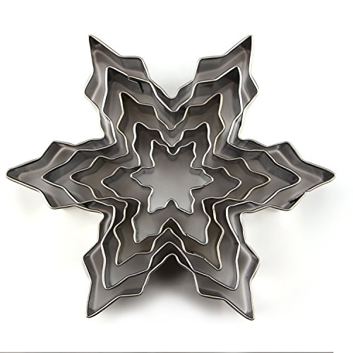 Aocor DIY Stainless Steel Christmas Snowflakes Holiday Co...