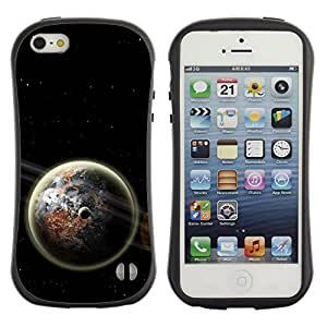 Suave TPU GEL Carcasa Funda Silicona Blando Estuche Caso de protección (para) Apple Iphone 5 / 5S / CECELL Phone case / / Earth Space Dark Cosmos Energy Moon Universe /