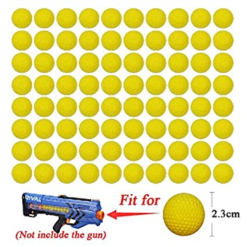 50pcs Toy Compatible Gun Bullet Balls Rounds For Nerf Rival Zeus Apollo  Refill