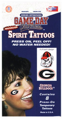 NCAA Georgia Bulldogs Tattoo Waterless -