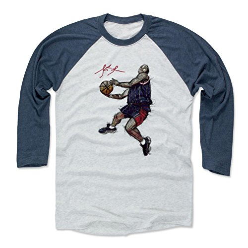 (500 LEVEL Steve Francis Baseball Shirt XXX-Large Indigo/Ash - Houston Rockets Fan Apparel - Steve Francis Sketch B)