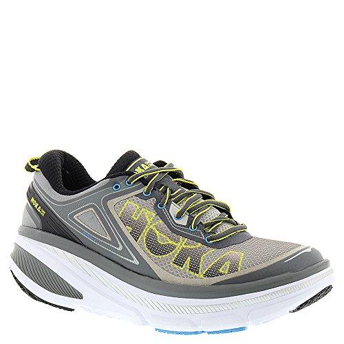 Hoka-One-One-Mens-Bondi-4-Road-Running-ShoeGreyCitrusCyan-Lycra-ComfortFrame