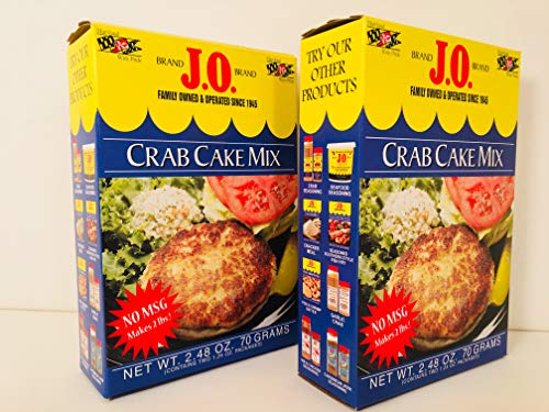 2 Pack J. O Spice Brand Crab Cake mix, Maryland style crab cakes, each box calls for 1 lb lump crab -