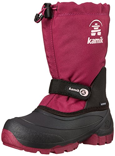 Price comparison product image Kamik Snoday Insulated Winter Boot (Toddler/Little Kid/Big Kid), Berry, 1 M US Little Kid