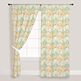AZ Floral Texture Door & Window Curtain Satin 4feet x 11feet; SET OF 3 PCS