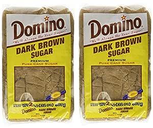 Domino Dark Brown Sugar 2 Lb (Pack of 2)