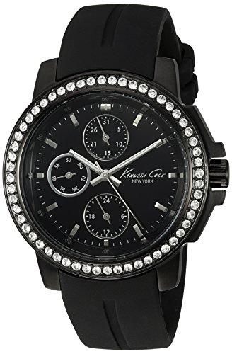 Kenneth Cole New York Men's KC2732 Dress Sport Triple Black Stone Bezel Watch