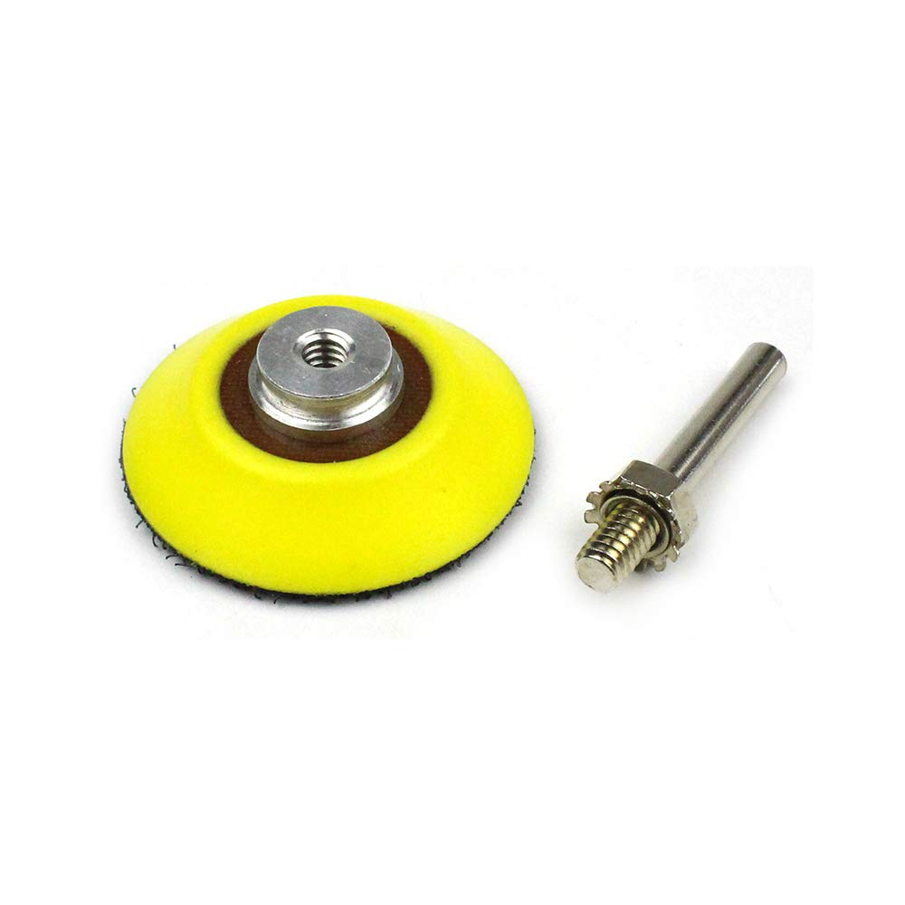 Soft Foam Layer Buffering Pad 50mm 3 Pack 2 Inch Hook and Loop Sanding Pad for Sanding Discs with 1//4 inches Dia Shank Drill Attachment