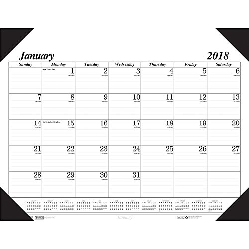 House of Doolittle 2017 Monthly Desk Pad Calendar, Economy, 22