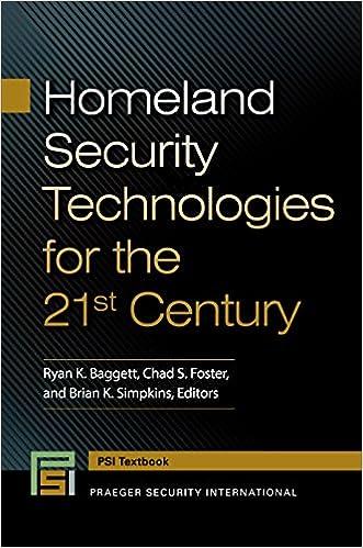 Homeland Security Technologies for the 21st Century (Praeger Security International)