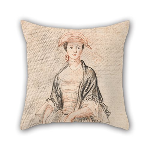 [Uloveme Oil Painting Paul Sandby - A Lady With A Fan Throw Cushion Covers 18 X 18 Inches / 45 By 45 Cm Gift Or Decor For Drawing Room,wife,christmas,son,wife,car Seat - Double] (John Paul Jones Costumes)