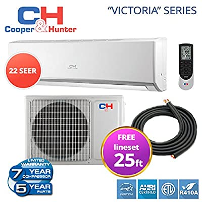 12,000 BTU 208-230v/60hz, Ductless Mini Split System 22 Seer with FREE line set