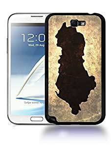 Albania National Vintage Country Landscape Atlas Map Phone Case Cover Designs for Samsung Galaxy Note 2