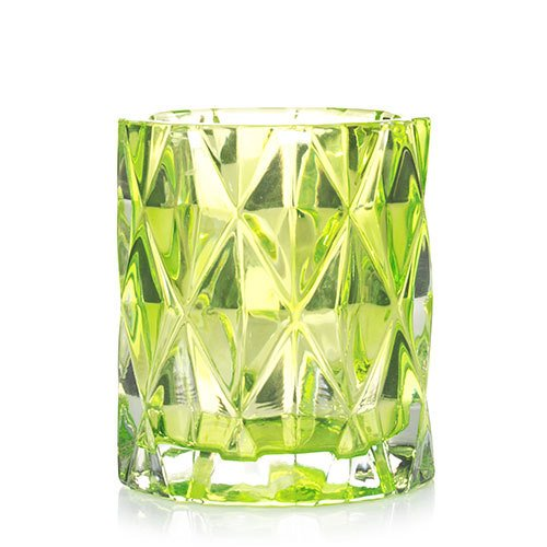 - Yankee Candle Wild Lime Fractal Glass Votive Candle Holder