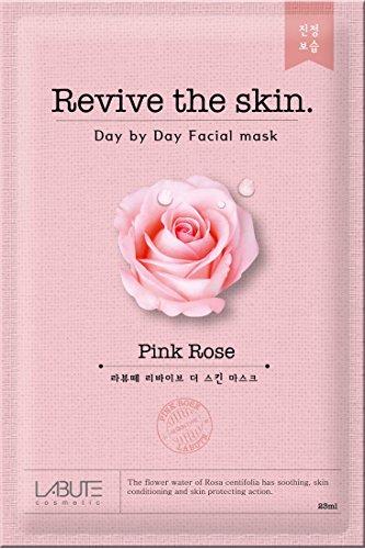 LABUTE Revive The Skin Mask Sheet (Rose mask sheet (10EA)) (Rose Face Mask)