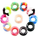 11 16 plugs silicone - XPIRCN 11 Pairs Thin Silicone Ear Gauges Flesh Plugs Tunnels Uniex Hollow Double Flared Expanders 2G-5/8