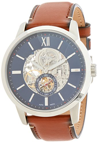 Fossil Men's Townsman ME3154 Silver Leather Automatic Fashion Watch ()